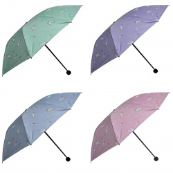 Зонт механический, полиэстер, диаметр 96см, высота 65см, складной, ассорти 4 вида Lamas КОКОС 211316