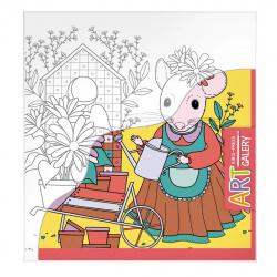 Раскраска холст на картоне 189*203 Айрис-пресс Мышка в саду 25860