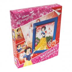 Картина из пайеток 20*25см, картонная коробка Lori Принцесса Белоснежка Disney Апд-012
