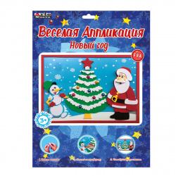 Аппликация EVA 23*29см Arte Nuevo Объемная Веселая аппликация Новый год DT-1008NY-10