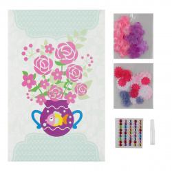 Аппликация тканью 14*21см Рыжий кот MyArt Нежные цветы НД-1484 2 дизайна