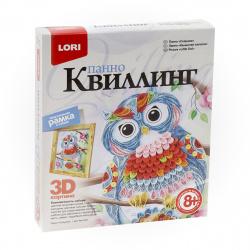 Набор для квиллинга Lori Панно Совушка Квл-023