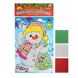 Мозаика ЕVA 15*21см Рыжий кот Снеговик М-8699