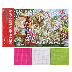 Мозаика ЕVA 15*21см Рыжий кот Сказочный единорог и принцесса М-2601