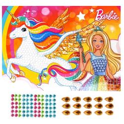 Мозаика стразами 17*23см MULTI ART Barbie 281943/210-BD