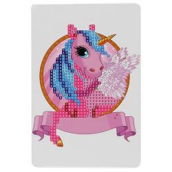 Мозаика алмазная 10*15см КОКОС Единорог частичная выкладка на картоне 209458