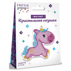Мозаика алмазная 80*90мм Магниты Единорожка Фрея ALVM-018
