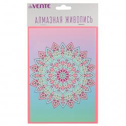 Мозаика алмазная 140*195мм, выкладка частичная, картон Котенок с цветочком Фрея ALVS-006