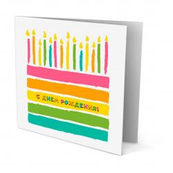 Мозаика алмазная Открытка своими руками 15*15см Mazari С днем рождения! частичная выкладка M-10453