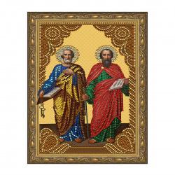 Мозаика алмазная 20*30см Molly Святые апостолы Петр и Павел частичная выкладка холст с нанесенной рамкой на подрамнике KM0806