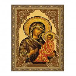 Мозаика алмазная 20*30см Molly Тихвинская Божия Матерь частичная выкладка холст с нанесенной рамкой на подрамнике KM0808