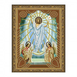 Мозаика алмазная 20*30см Molly Воскресение Христово частичная выкладка холст с нанесенной рамкой на подрамнике KM0712