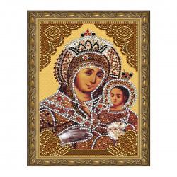 Мозаика алмазная 20*30см Molly Вифлеемская Божия Матерь частичная выкладка холст на подрамнике KM0713