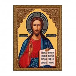 Мозаика алмазная 40*50см Molly Икона Господь Вседержитель частичная выкладка холст на подрамнике KM0791