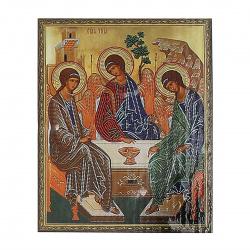 Мозаика алмазная 40*50см Molly Икона Святая Троица частичная выкладка холст на подрамнике KM0793