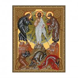 Мозаика алмазная 400*500мм, выкладка частичная, холст Икона Вознесение господне Molly KM0795