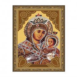 Мозаика алмазная 400*500мм, выкладка частичная, холст Икона Вифлеемская Божия Матерь Molly KM0718