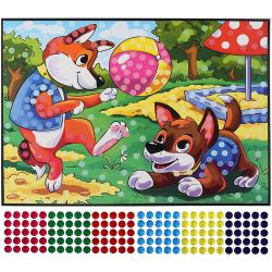 Мозаика гелевая 19*26см Arte Nuevo Блестящий витраж Цветы DT-1040-1V