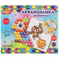Мозаика аквамозаика, 10*10см, 300 элементов Животные MULTI ART 315236