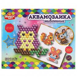 Мозаика аквамозаика, 10*10см, 300 элементов Животные MULTI ART 315218