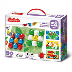 Мозаика пластиковая 39 фишек 23*35 Baby Toys Для самых маленьких 02523