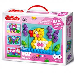Мозаика пластиковая 107 фишек 23*35 Baby Toys Для самых маленьких 02518