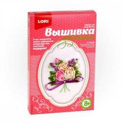 Вышивка лентами Lori Чайные розы Лн-006