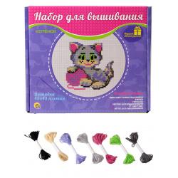 Вышивка мулине Рыжий кот Котенок с пяльцами НШ-7791 (20)