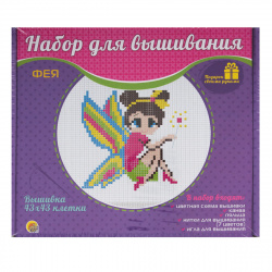 Вышивка мулине Рыжий кот Фея с пяльцами НШ-9882