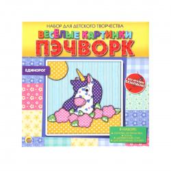 Пэчворк без иголки Рыжий кот Веселые картинки Единорог НД-2256