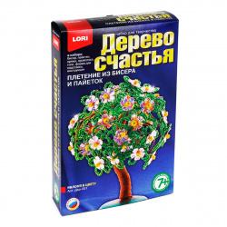 Плетение из бисера и пайеток Lori Дерево счастья Яблоня в цвету Дер-001