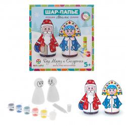 Набор для росписи папье-маше Дед мороз и Снегурочка картон B0160611