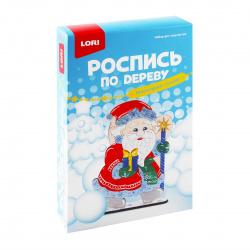 Набор для росписи Новогодний сувенир Дед Мороз по дереву Фнн-002
