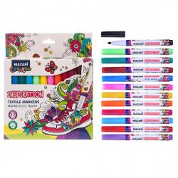 Набор маркеров по ткани 12цв Mazari Inspiration M-5013-12 картонная коробка
