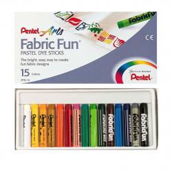 Пастель для ткани Pentel FabricFun Pastels 15шт PTS-15