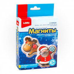 Набор для отливки Магниты Lori Дед мороз с оленёнком Пз/Г-009