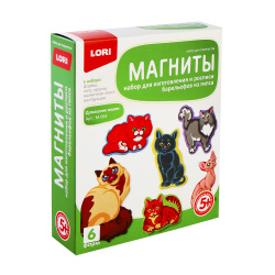 Набор для отливки Магниты Lori Домашние кошки М-064
