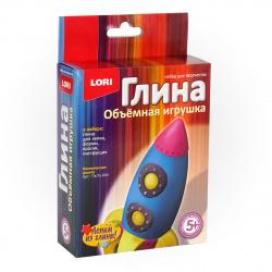 Набор для изготовления Игрушка из глины Космическая ракета Пз/Гл-004
