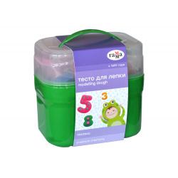 Тесто для лепки 4 цвета по 60гр Гамма Малыш  Учимся считать 15 деталей 043788/0509197