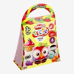 Тесто для лепки 6 цветов, 120гр, формочки, застывает на воздухе Master Do Danko Toys TMD-04-02