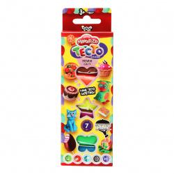 Тесто для лепки 7 цветов, 140гр, застывает на воздухе Master Do Danko Toys TMD-02-05