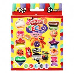 Тесто для лепки 12 цветов, 240гр, застывает на воздухе Master Do Danko Toys TMD-02-03