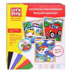 Картина из пластилина Lets Play Веселый транспорт набор 3шт 36413