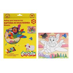 Раскраска пластилином Мишка Каляка-Маляка КВПКМ-М*