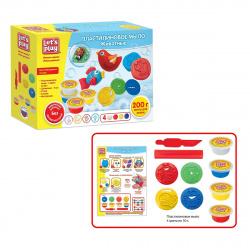 Набор для мыловарения 4 цвета по 50г Let's Play Животные 6 деталей 36476