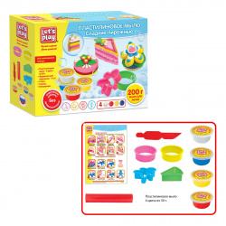 Набор для мыловарения 4 цвета по 50г Let's Play Сладкие пирожные 6 деталей 36477