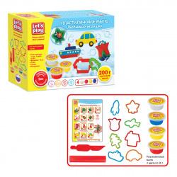 Набор для мыловарения 4 цвета по 50г Let's Play Любимые игрушки 10 деталей 36478