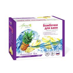 Набор для изготовления Бомбочки для ванн своими руками Ананасовый бум Аромафабрика 227832
