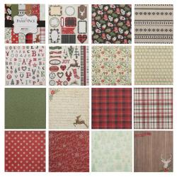 Бумага для скрапбукинга 15*15см, 24л, 12 цветов, элементы декоративные КОКОС 184290-DSM024