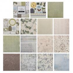 Бумага для скрапбукинга 15*15см, 24л, 12 цветов, элементы декоративные КОКОС 184295-DSM022